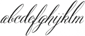 Belluccia Regular otf (400) Font LOWERCASE