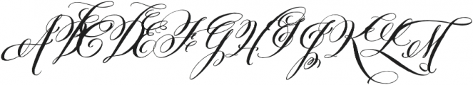 Belluccia Stylistic Bold otf (700) Font UPPERCASE