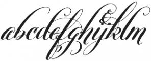 Belluccia Stylistic Bold otf (700) Font LOWERCASE