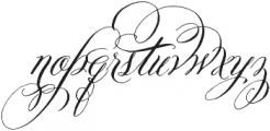 Belluccia Swashes Regular otf (400) Font LOWERCASE