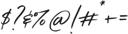 Belluga Slanted Solid otf (400) Font OTHER CHARS