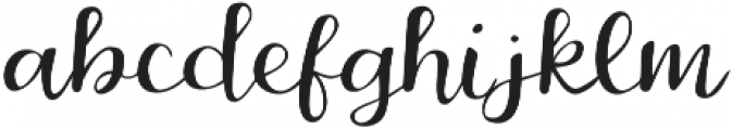 Belmarie Script v2 otf (400) Font LOWERCASE