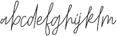 Belmont Italic Alternates otf (400) Font LOWERCASE