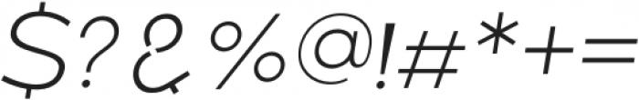 Belong Sans ExtraLightItalic otf (200) Font OTHER CHARS