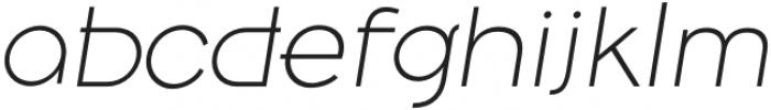 Belong Sans ExtraLightItalic otf (200) Font LOWERCASE