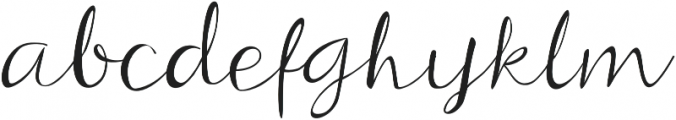 Beloved Script Regular otf (400) Font LOWERCASE