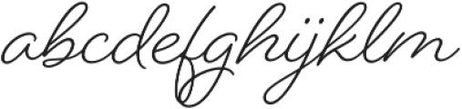 Beloved Script otf (400) Font LOWERCASE