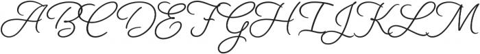Beloved Script otf (700) Font UPPERCASE