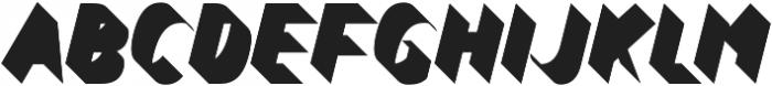 Bend FiveFull otf (400) Font UPPERCASE
