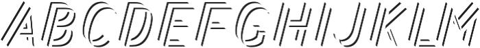 Bend FiveStripes otf (400) Font LOWERCASE