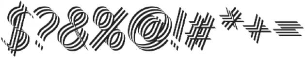 Bend Three otf (400) Font OTHER CHARS