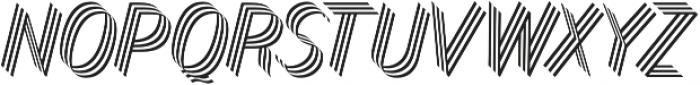 Bend Three otf (400) Font LOWERCASE