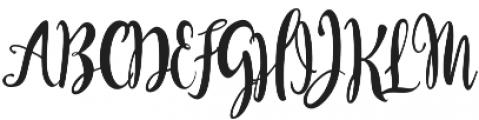 Bendong Black Regular otf (900) Font UPPERCASE