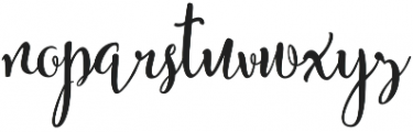 Bendong Black Regular otf (900) Font LOWERCASE