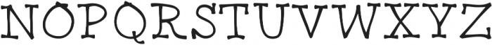 BendyGoose ttf (400) Font UPPERCASE