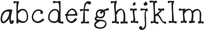 BendyGoose ttf (400) Font LOWERCASE