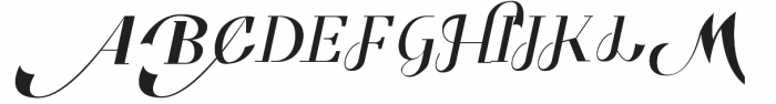 Benihana Alt One otf (400) Font UPPERCASE