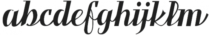 Benihana Alt One otf (400) Font LOWERCASE
