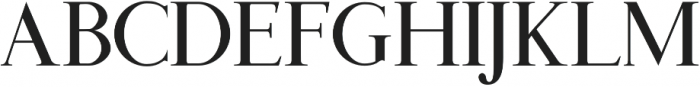 Benjamin Title Standard otf (400) Font LOWERCASE
