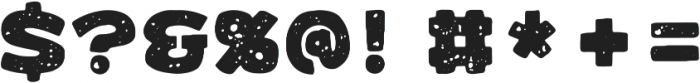 Benji Rough Mono otf (400) Font OTHER CHARS