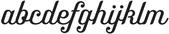 Benson Script No 25 otf (400) Font LOWERCASE