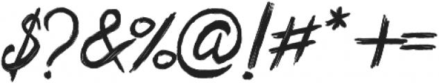 Bentrock otf (400) Font OTHER CHARS