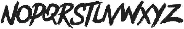 Bentrock otf (400) Font LOWERCASE