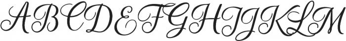 Beradon Script Regular otf (400) Font UPPERCASE