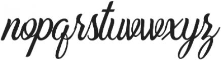 Beradon Script Regular otf (400) Font LOWERCASE