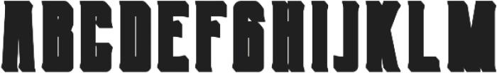 Berg Extrude ttf (400) Font UPPERCASE