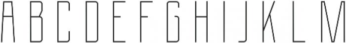 Berg Inline ttf (400) Font UPPERCASE