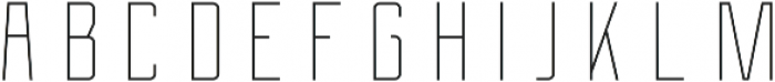 Berg Inline ttf (400) Font LOWERCASE