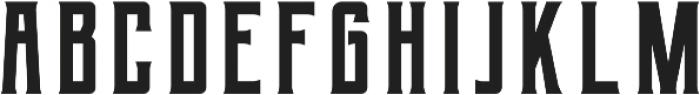 Berg Regular ttf (400) Font UPPERCASE