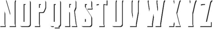 Berg Shadow ttf (400) Font UPPERCASE