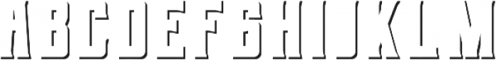 Berg Shadow ttf (400) Font LOWERCASE