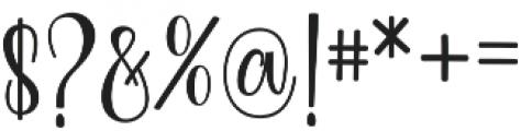 Berleyila otf (400) Font OTHER CHARS