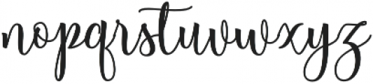 Berleyila otf (400) Font LOWERCASE