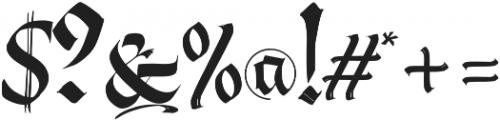 Berliner Fraktur otf (400) Font OTHER CHARS