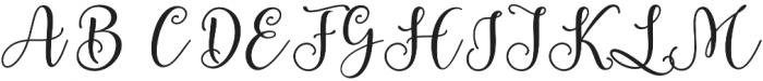 Berliyan Regular otf (400) Font UPPERCASE
