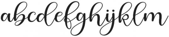 Berliyan Regular otf (400) Font LOWERCASE