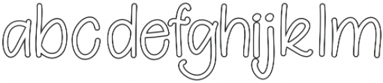 Berrylicious Hollow otf (400) Font LOWERCASE