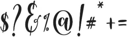 Berthilda Script otf (400) Font OTHER CHARS