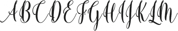 Berthilda Script otf (400) Font UPPERCASE