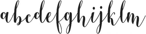 Berthilda Script otf (400) Font LOWERCASE