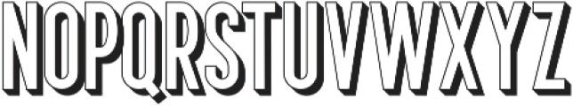 Bertobe Extrude otf (400) Font LOWERCASE