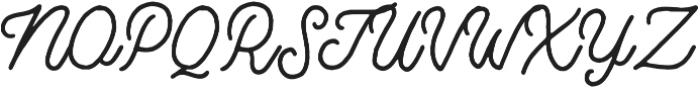 Bertobe Script otf (400) Font UPPERCASE