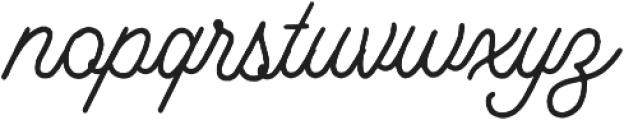 Bertobe Script otf (400) Font LOWERCASE