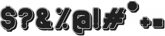Berunov 3d black otf (900) Font OTHER CHARS