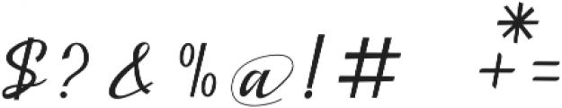 Bestalia otf (400) Font OTHER CHARS