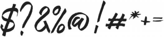 Bestrong Brush Font Regular otf (400) Font OTHER CHARS